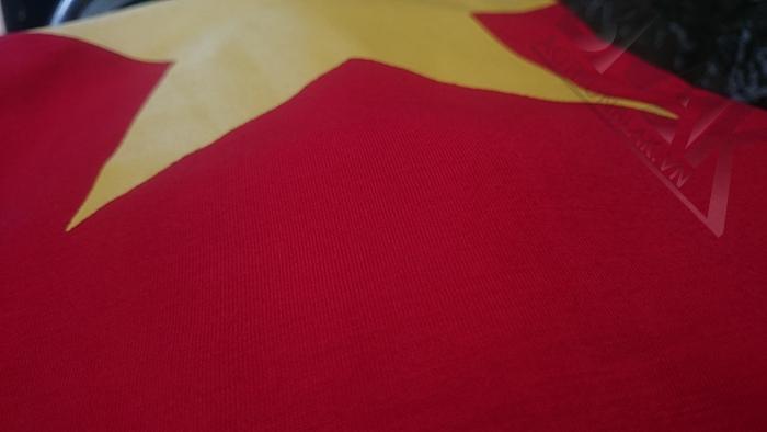 mẫu vải áo cờ đỏ sao vàng 1